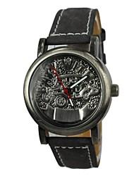 Women's Car Style Leather Band Quartz Wrist Watch(Assorted Colors)
