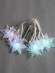 10-LED 1.5M Battery Powered Color Changing String Fairy Lights for Christmas Party Wedding
