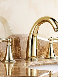 Ti-PVD Finish Classic Brass Bathroom Sink Faucet