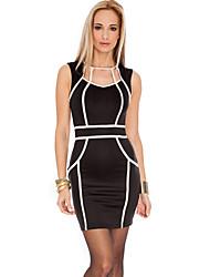 oh sí el vestido bodycon imperio raya de la manera de las mujeres