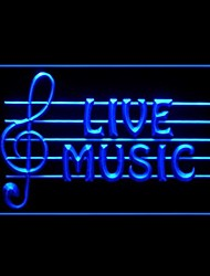 Live Music Advertising LED Light Sign