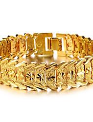 Fleur modelant Cuivre Plaquage 18 K Man bracelet