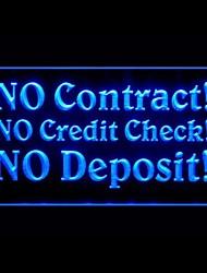 Sem Contrato verificação de crédito Publicidade LED Sign