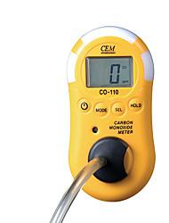 detector de fugas de medidor de prueba entorno cem co-110 / gas / metro del monóxido de carbono