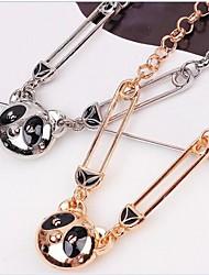 Europeu Panda (Animal) Liga Pendant Necklace (Gold, Silver) (1 Pc)