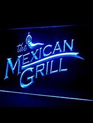 A Mexican Grill Promoção Verde Azul Vermelho Branco Laranja Roxo Amarelo Publicidade LED Sign