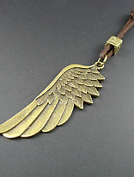 Fashion Angel Wings Multicolor Leather Pendant Necklace(1 Pc)