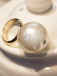 Meet You Pearl Ring Inlaid With Austrian Rhinestone