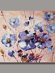 Mão pintura a óleo da faca Flor, com quadro esticado pronto para pendurar Pintado