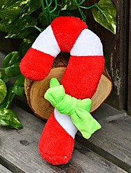 Fête de Noël en peluche grincement jouet pour animaux de compagnie Chiens (Les béquilles de Noël)