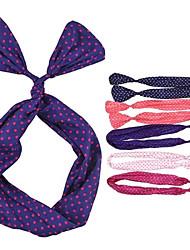 (1 PC) Sweet Multicolor Tela Diademas para la Mujer (color al azar)