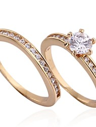 Lovers Fashion Simple 18K Gold Plated  Set of Rings