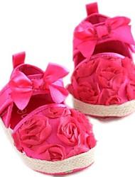 La muchacha del algodón plana Primera plana con Walker Flores Zapatos