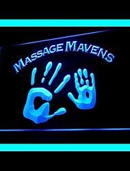 Enseigne lumineuse gourous de massage corps publicité spa conduit