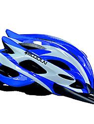 Casque Vélo (Blanc / Bleu , PC / EPS)-de Femme / Homme / Unisexe - pentru Escalade Montagne / Route / Half Shell 15 AérationM : 55-59cm