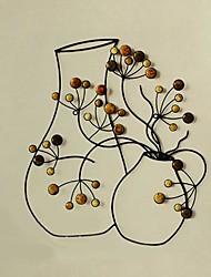 arte da parede parede de metal decoração da parede decoração arte vaso