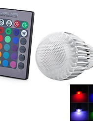 Marsing E26/E27 5 W 1 Integrate LED 300-500 LM Color-Changing Remote-Controlled Globe Bulbs AC 100-240 V