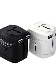 "Power Converter Socket Modern Multifunction Dual USB Plastic L2"" x W2"" x H3"""