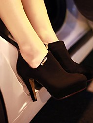Women's Shoes Round Toe Stiletto Heel Ankle Boots