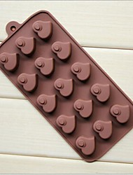15 Hole Heart Peach Heart Shape Cake Ice Jelly Chocolate Silicone Molds