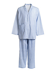 Medical Uniforms Single-Breasted Buttons Turned-down Plain Patient Pajamas