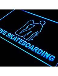 J350 amo el skateboarding signo luz de neón