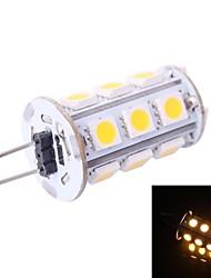 g4 3w 160lm 3500k 18x5050 warmweiße LED Glühbirne (DC 12V)