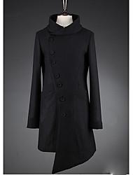 Хелен мужской стенд воротник асимметричный твид пальто