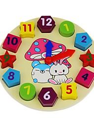giocattolo educativo di legno orologio digitale blocchi di costruzione geometria corrispondenza dei bambini