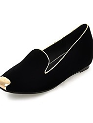 Women's Shoes  Square Low Heel Cap-Toe Comfort Loafers Shoe