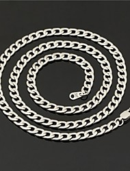 U7 Men's Link Cuban Chain Necklace 316L Titanium Steel 5MM 22Inches (55CM)