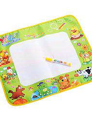 Tablero de dibujo del agua del aquadoodle mágicos juguetes pluma 48x58cm para niños con pinturas de animales (bolsa de plástico)