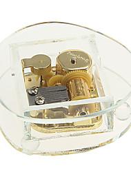 caixa de música de cristal com brinquedos de mola dourados (padrão aleatório)
