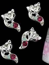 10pcs zorro rhinestone 3d accesorios de aleación de bricolaje clavo decoración del arte