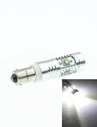 BAX9S H6W Cree XP-E LED 25w 1600-1800lm 6500-7500K ac / dc12v-24 luces indicadoras se vuelven blancas - plata transparente