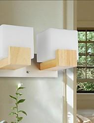 parede de carvalho luz, duas luzes, carvalho e vidro, 220 ~ 240V (jy9022)