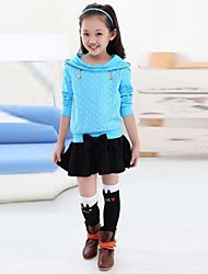 Girl's Fashion Sweet And Pure Color Skirt