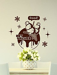 Wall Stickers Wall Decals, Modern Ice cream PVC Wall Stickers