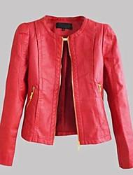 Women's Street Style PU Leather Motorcycle Jacket