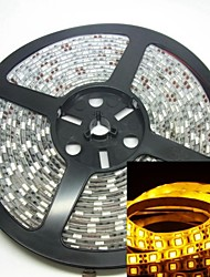 5m 300led 75w 5050smd 635-700nm dc12v ip68 luz de tira impermeable amarillo