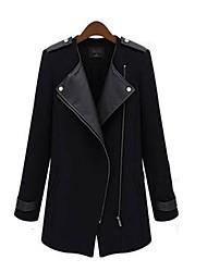 Juciy Women's Elegant Tweed Long Coat