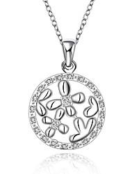 Стильное ожерелье, с напылением серебра