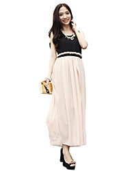 Women's Dresses , Chiffon/Lace Lace/Cute/Party