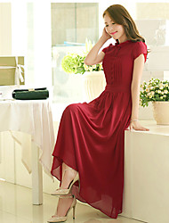 Ashimu Fashion Fitted Chiffon Long Dress