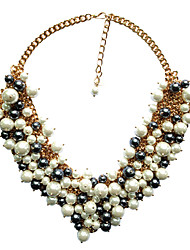 Hohot handgefertigten luxuriösen Perle necklace_necklace: 40 + 7 cm # n0064