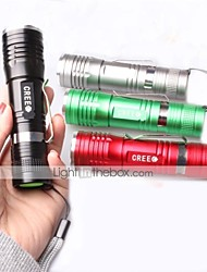 LED Flashlights/Torch Handheld Flashlights/Torch Clips and Mounts LED 1000 Lumens 3 Mode Cree XM-L T6 18650 Adjustable Focus Impact