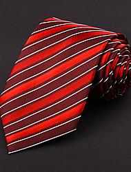 Red&White Silk Tie
