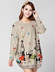 eine xuan Mode Alle Spiel Strick Shirt