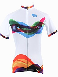 PALADIN Cycling Tops / Jerseys Women's Bike Breathable / Ultraviolet Resistant / Quick Dry Short Sleeve 100% Polyester Stripe WhiteS / M