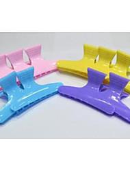 Hair Salon Double-color Plastic Clamp
